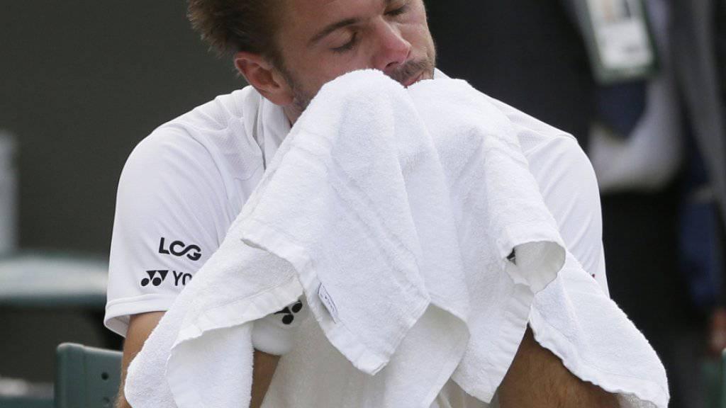 Wimbledon für ihn mit einer Enttäuschung: Stan Wawrinka scheiterte in Wimbledon am Qualifikanten Thomas Fabbiano