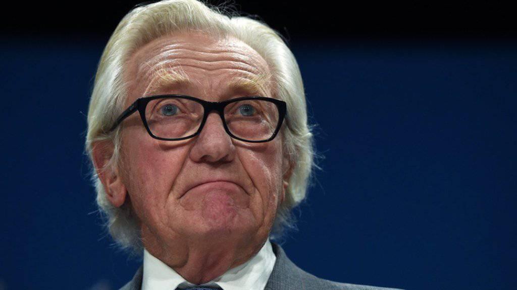 Lord Michael Heseltine ist nicht länger Berater von Premierministerin Theresa May. (Archivbild)