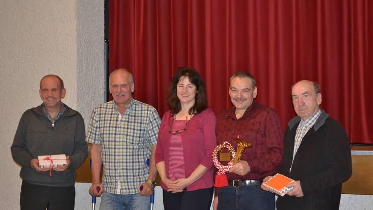 v.l.: Peter Vismara, Thomas Zumsteg, Brigitte Brogli, Jürg Häberling, Ueli Braun