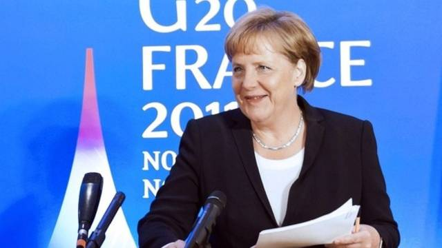 Bundeskanzlerin Merkel prophezeit einen mühevollen Weg aus der Schuldenkrise (Archiv)