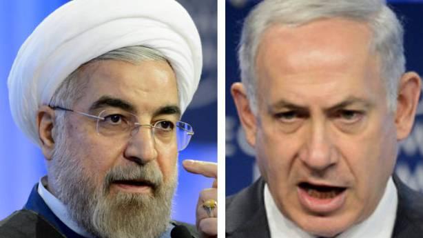 Israels Benjamin Netanjahu (rechts) zerriss die Rede von Irans Präsident Ruhani in der Luft