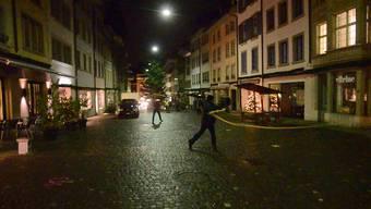 Lenzburg: Chlausklöpfer in der Nacht vor dem Chlausmarkt
