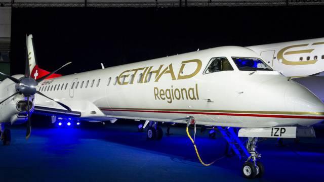 Flugzeuge der Etihad Regional in Zürich (Archiv)