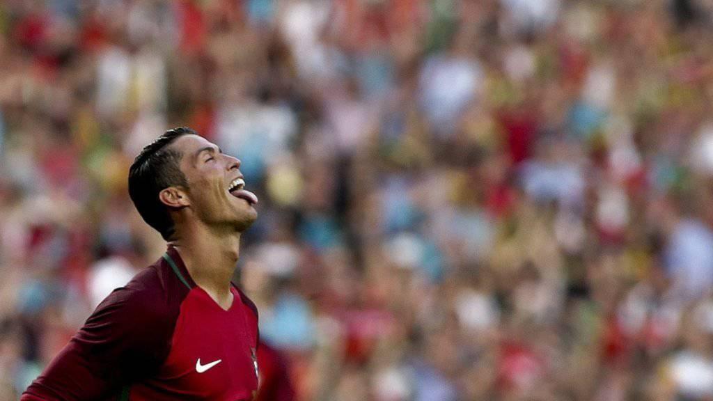Lässiger Jubel von Cristiano Ronaldo