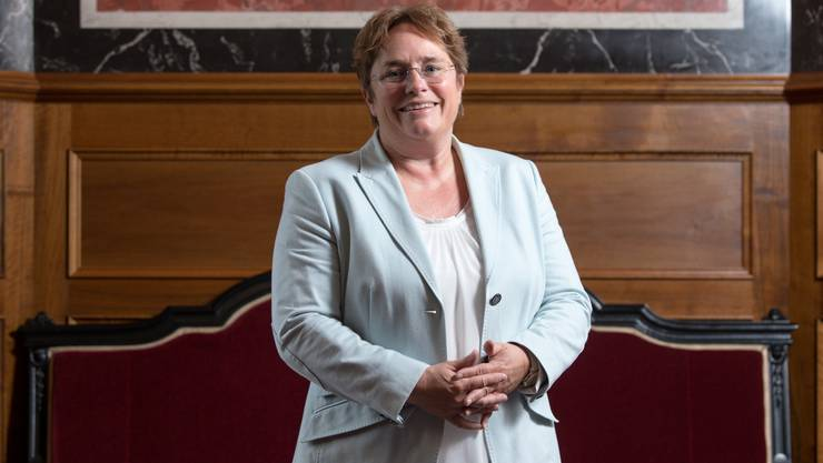 SVP-Nationalrätin Magdalena Martullo-Blocher im Bundeshaus in Bern.