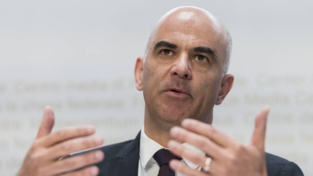 Gesundheitsminister Alain Berset informiert über die neusten Massnahmen.(Archivbild)