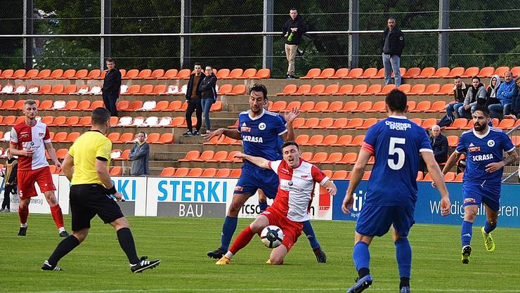 Die Solothurner wurden im Aufstiegsspiel meistens vor dem Strafraum gestoppt.