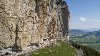 Die Massen-Ausflüglerei wird noch manchen Ort ruinieren Gasthaus «Äscher» am Fuss der Ebenalp, Appenzell Innerrhoden.