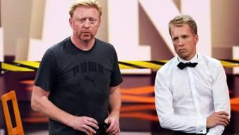 Versöhnt: Boris Becker und Oliver Pocher in der Show vom Freitag