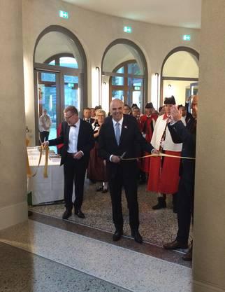 Bundesrat Alain Berset mit Markus Notter