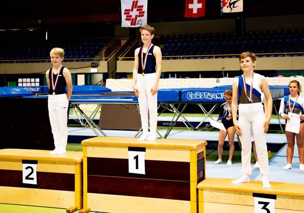 U13 National Boys Thaddeo Kwiatecki auf dem dritten Platz