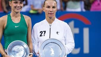 Den Turniersieg in Washington holte sich Swetlana Kusnezowa (rechts) gegen Donna Vekic (links)