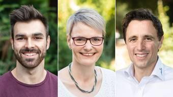 Die Finalisten des NAB-Award 2018: Oliver Hegi, Franziska Aellen, Pascal Jenny.