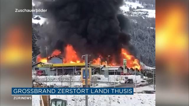 Landi-Grossbrand im Bündnerland