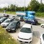 Die Auslastung des Car-Pooling-Parkplatzes bei der Autobahnauffahrt Kölliken überschreitet die 100-Prozent-Marke regelmässig.