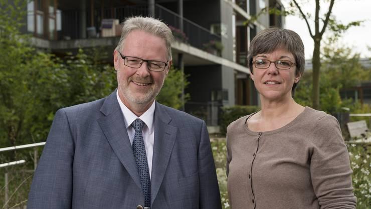 Hans Schwendeler (Direktor) und Regula Dell'Anno (VR-Präsidentin).