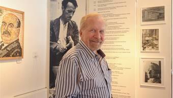 Für ihn setzt er sich ein: Toni Eglin vor einem Bild seines Vaters Walter-Eglin im gleichnamigen Museum in Känerkinden.