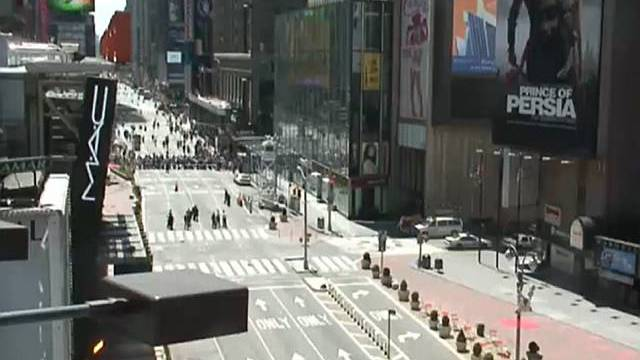 Schon wieder in Alarmzustand: Times Square in New York