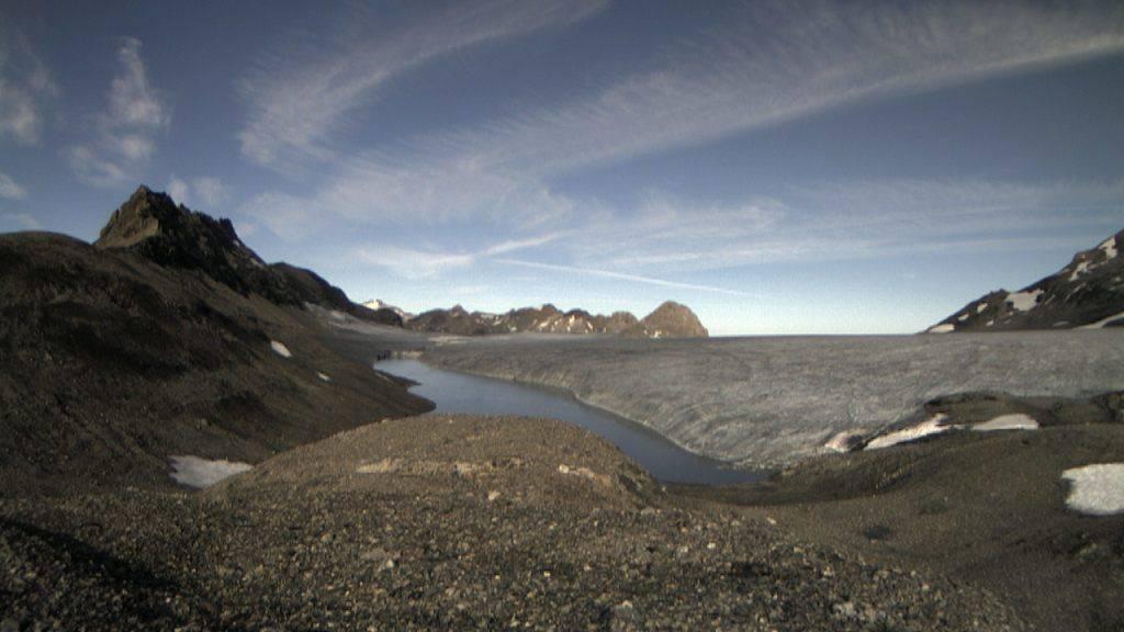 Der Faverges-See oberhalb der Lenk am 21. August. Mittlerweile ist er vollständig ausgelaufen.