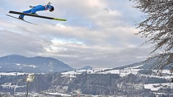 Gregor Deschwanden gelingt im österreichischen Bischofshofen kein guter Sprung.