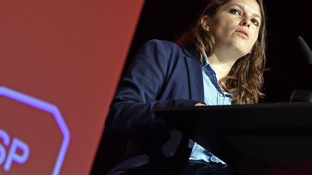 Mattea Meyer, Partei-Co-Präsidium, am ausserordentlichen Parteitag der SP Schweiz in St. Gallen.