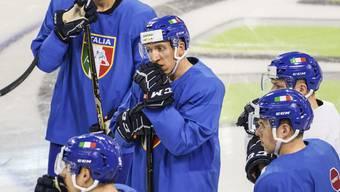 Die italienische Eishockey-Nationalmannschaft muss an der WM untendurch.