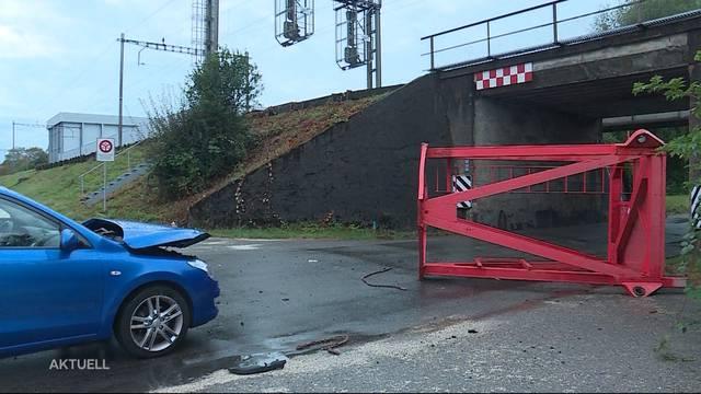 Spektakulärer Unfall in  Villmergen