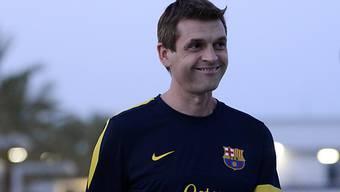 Tito Vilanova stand erstmals wieder auf Barcelonas Trainingsplatz.