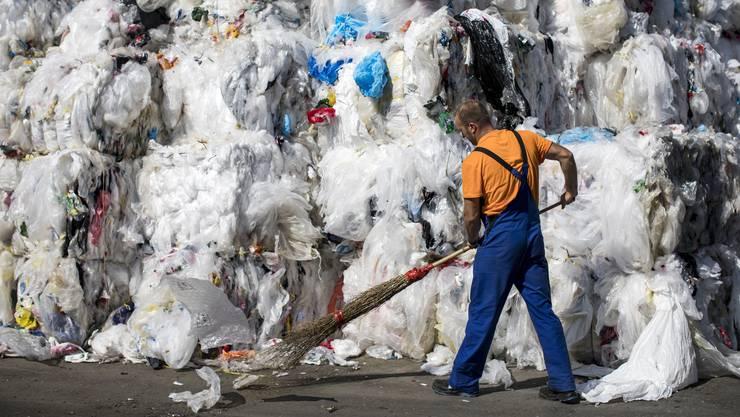 Der gesammelte Plastik wird beispielsweise für Paletten, Rohre oder Folien wiederverwertet.