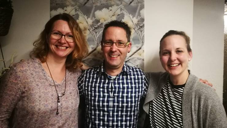 V.l.n.r.: Barbara Albert, Patric Stieger und Daniela Weide