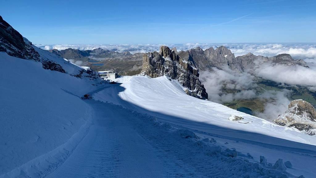 Auf dem Titlis Gletscher startet die Skisaison
