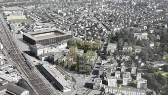 Das Stadion in der Umgebung Torfeld-Süd
