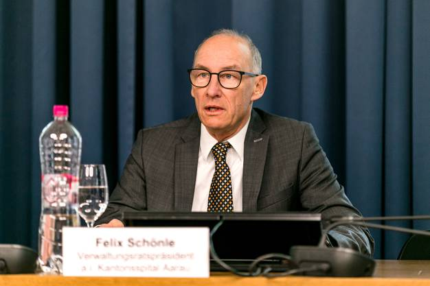 Im Bild: Felix Schönle, Verwaltungsratspräsident a.i. Kantonsspital Aarau.