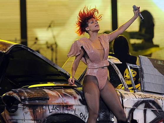Rihanna auf der Bühne in Los Angeles