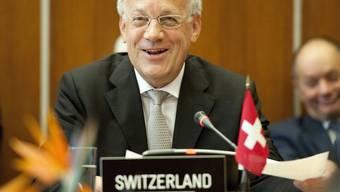 Bundesrat Johann Schneider-Ammann unterzeichnet ein Freihandelsabkommen mit Montenegro