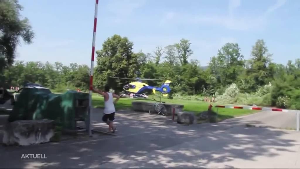 Rettung aus Reuss in Bremgarten