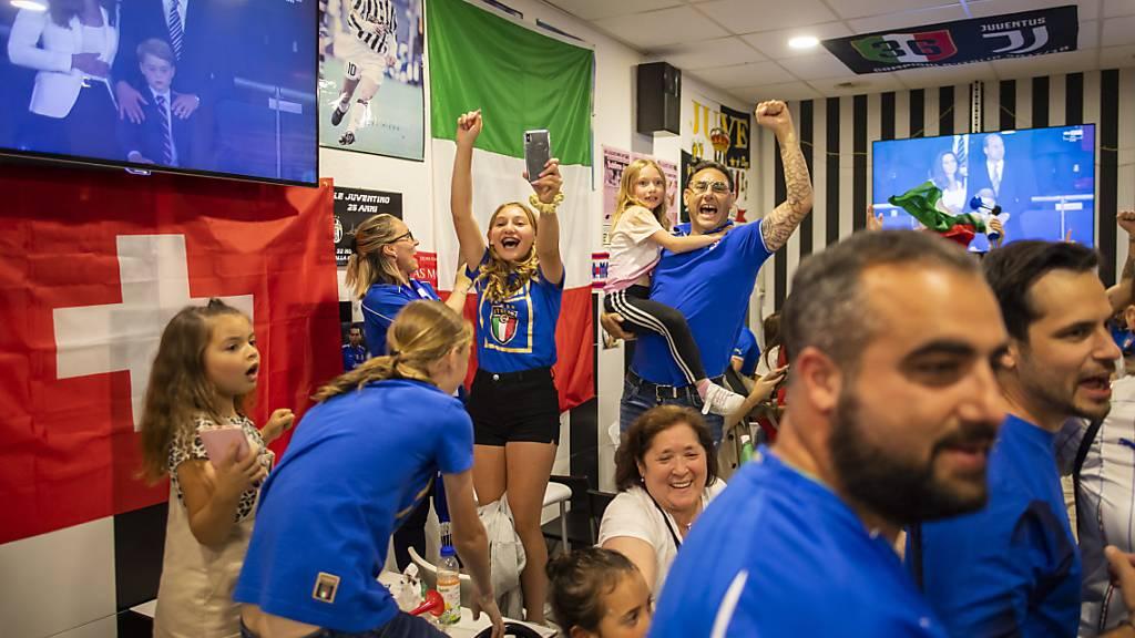 Tausende Italien-Fans feiern den Sieg in Schweizer Städten