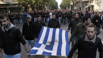 Studenten protestieren in den Strassen von Athen