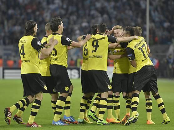 Dortmund feiert klaren Heimsieg gegen Marseille.