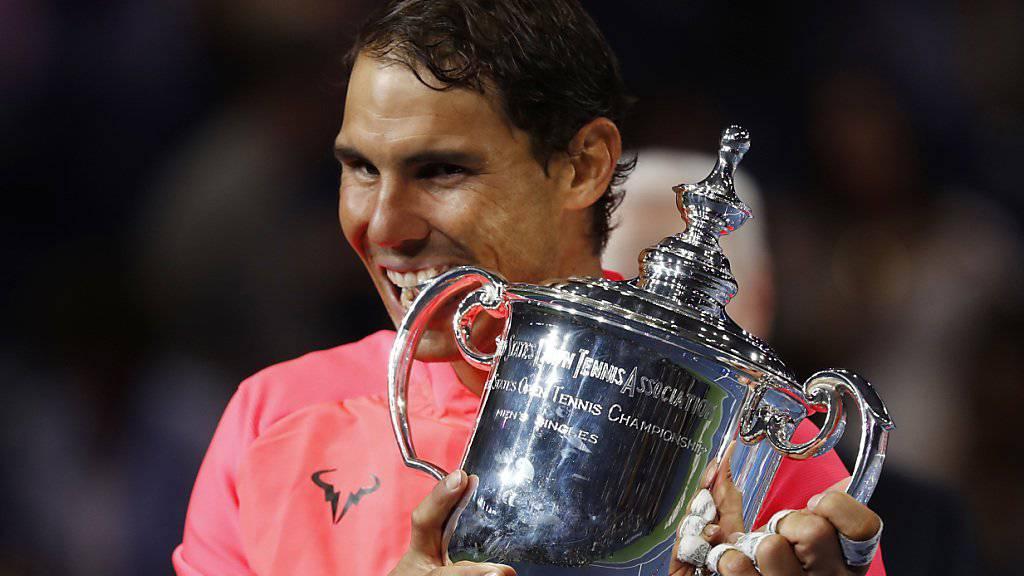 Rafael Nadal nach dem 16. Major-Titel auf der Jagd nach Roger Federers Rekord (19 Grand-Slam-Siege).