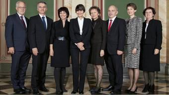 Das offizielle Bundesratsfoto 2011 (Bundeskanzlei/Monika Flückiger)