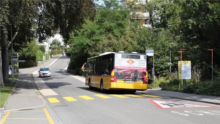 Auf der rechten Seite – stadteinwärts – ist eine Buswartehaus vorgesehen.