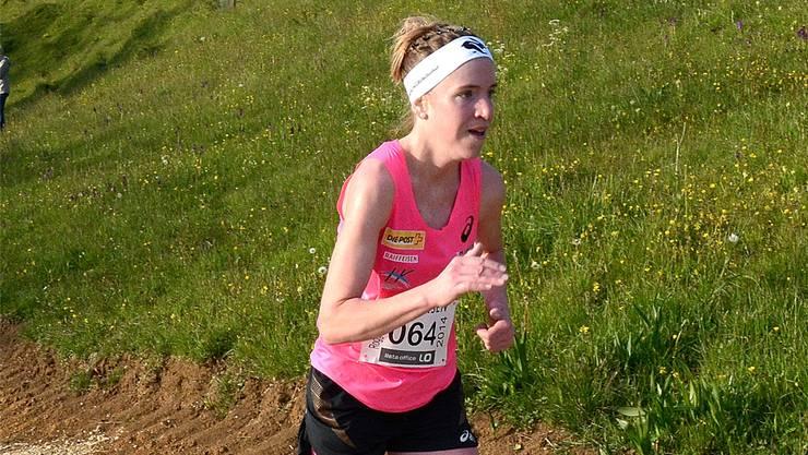 Auch am Roggen-Berglauf eine Klasse für sich: Martina Strähl.