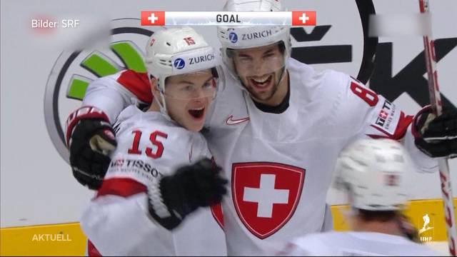 Schweiz schafft Halbfinaleinzug der Eishockey WM