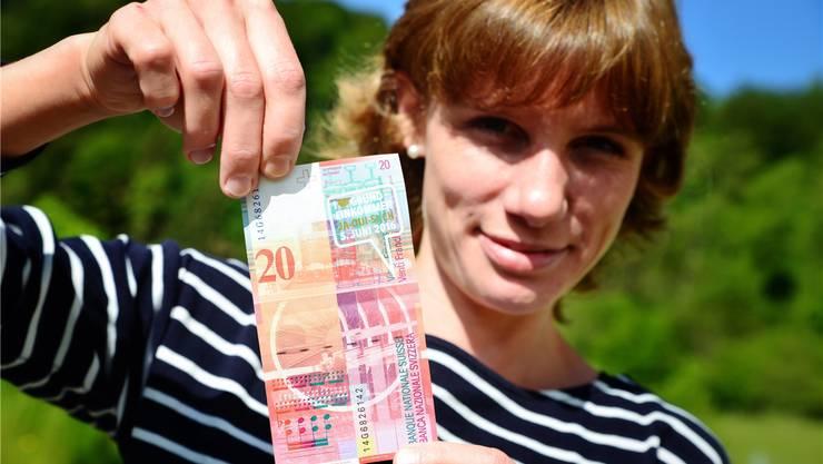 Kristina Eva Schwabe ist von der Idee des bedingungslosen Grundeinkommens überzeugt. Samuel Schumacher