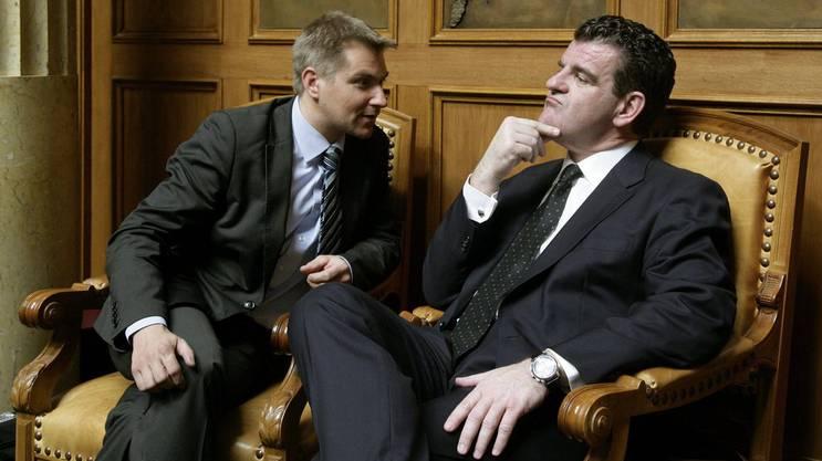 Spuhler, hier mit Ex-SVP-Präsident Toni Brunner, politisierte von 1999 bis 2012 im Nationalrat.