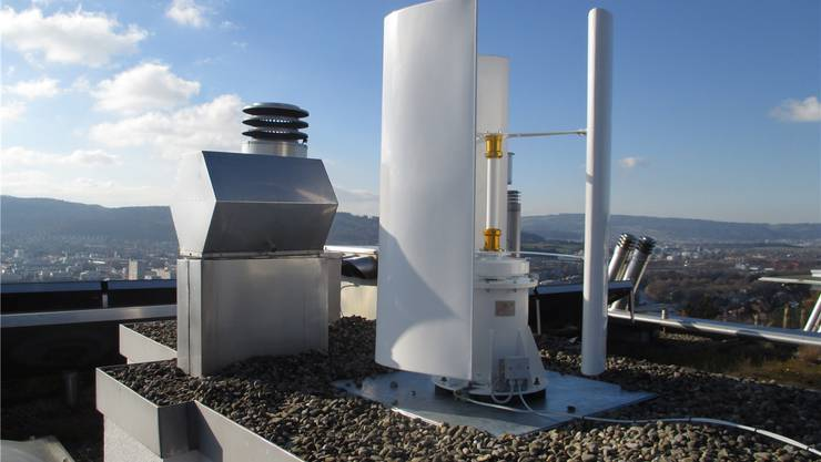 Windkraft vom eigenen Dach: Aargauer Umwelt-Pionier testet Mini ...