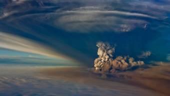 Aschewolke über Island (Symbolbild)