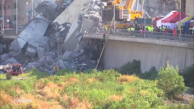 Brückeneinsturz Genua: Bis zu 20 Menschen noch unter Trümmern vermutet