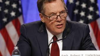 Der US-Handelsbeauftragte Robert Lighthizer heizt den Handelsstreit der USA mit China erneut an. (Archivbild)